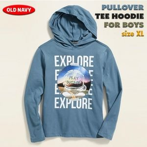 Pullover Tee Hoodie for Boys